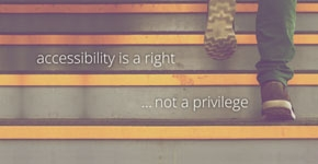 Accessibility is a right, not a privilege